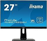 iiyama Prolite XUB2792QSU-B1 68,5cm (27') IPS LED-Monitor QHD (DVI, HDMI, DisplayPort, USB3.0, Ultra-Slim-Line, FreeSync, Höhenverstellung, Pivot) schwarz