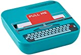 MUSTARD - Wrote A Note Sticky Notes I selbstklebende Notizzettel I Haftnotizblock I klebend I Klebenotizzettel mit Spender I Retro I lustige Geschenkidee I inkl.Box I Schreibmaschine - 100 Notizzettel