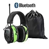 PROHEAR 033 Gehörschutz mit Bluetooth, FM/AM Radio Ohrenschützer, Eingebautem Mikrofon und Lärmreduzierung für Forst-, oder Landarbeit & lärmintensive Freizeitaktivitäten SNR30dB