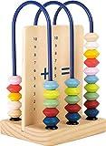 small foot 11165 Kleine Rechenschleife Educate aus Holz mit bunten Holzperlen, Rechenschieber Spielzeug, Mehrfarbig