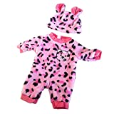 P Prettyia Puppen Tier Form Strampler Overall Set für 50 cm Baby Puppe Dress Up - # 5