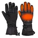 Beheizbare Handschuh 3.7V/4000mAh 3-Stufen Temperaturregelung und Touchscreen Winterhandschuhe Herren Damen Wasserdicht&Winddicht Warm, Ideal für Arbeiten im Freien Skifahren, Motorrad, Jagen