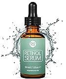 Retinol Serum Testsieger 2019 - 2,5% Retinol Liposomen Liefersystem mit 20% Vitamin C & Vegan Hyaluronsäure - Anti-Aging Lift Serum, Für Gesicht, Dekolleté und Körper von Bioniva
