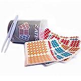 ZiATEC Cross Tapes Box mit 102   204   306 Pflaster in praktischer Schutzdose + Pinzette, Gittertapes, Akupunktur-Pflaster, Größe:Versorgungsbox, Farbe:Mix - 102 Stück