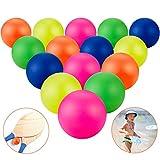 15 Stücke Ersatz Strandbälle Mehrfarbige Strand Paddel Ersatzbälle Gummi Strandball Extra Bälle für Outdoor Aktivitäten
