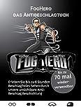 FogHero - das Antibeschlagtuch für Brillen, Visiere uvm. Antibeschlag Brillenputztuch Microfaser 1x Tuch, kein Antibeschlagspray