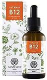 NATURE LOVE® Vitamin B12 Tropfen Vegan in 50ml (1700 Tropfen). Beide aktive B12 Formen: Methyl- & Adenosylcobalamin. Hoch bioverfügbar, hergestellt in Deutschland