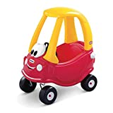 Little Tikes 612060E5 Cozy Coupe Car-Kids Ride-On Rutschfahrzeug, Mini Schiebe-Auto mit echter Hupe, Zündschalter und Benzinklappe. Ab 18 Monaten, Red