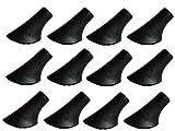 MIGHTY PEAKS 12 Stück / 6 Paar Nordic Walking Pads Asphalt Gummipuffer X-4GT für alle gängigen Nordic Walking Stöcke - Wanderstöcke - für den Nordic Walking Stock mit einen Durchmesser von 10mm