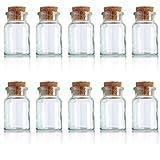 Gewürzgläser 10er Pack Gewürz Tee Kräuter Glas Korkenglas Gewürzdose Behälter 150ml