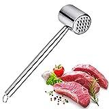 Fleischklopfer Edelstahl-Fleischhammer um Fleisch zu plattieren und weicher zu Machen - Fleischplattierer für Schnitzel, Steaks, Rostfrei, spülmaschinenfest