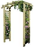 Gartenpirat Eingangspergola 160x62x220 cm Pergola aus Holz mit Rankelementen