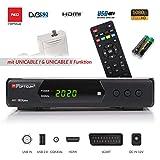 Opticum SBOX Plus - Sat-Receiver HD Unicable - Media-Player 1080P Full-HD Digitalreceiver DVB-S/S2 - Astra & Hotbird vorinstalliert + Anadol HDMI Kabel