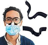 1 x Anti-Beschlag-Nasenklammer für Maske, verhindert Beschlagen und Dämpfen der Gläser, glatteres Atmen; Nasenstegstreifen (schwarz)
