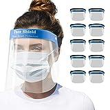 Blumax Gesichtsschutz Zertifiziert - Visier aus Kunststoff - Face Shield - transparentes Gesichts Schutzschild mit elastischem Gummiband (10)