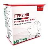 SALDI24 - Atemschutzmaske FFP2 Maske - EU CE 2163 Zertifiziert EN 149 Schutzmaske 20 Stück