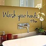 BLOUR Waschen Sie Ihre Hände Mutter Home Decor Wandaufkleber Aufkleber Schlafzimmer Vinyl Art Wandbild Badezimmer Wandaufkleber Home Decor Kunst Wandtattoos neu