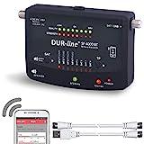 Bluetooth Easy SatFinder - DUR-line SF 4000 BT - mit 8 vor eingestellten Satelliten inkl. Smartphone-App für weitere Profi Anwendungen [Digitales SAT-Messgerät]