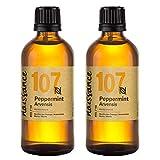 Naissance Peppermint/Ackerminze/Mentha Arvensis (Nr. 107) 200ml (2x100ml) 100% reines ätherisches Minzöl