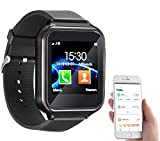 simvalley MOBILE Telefon Uhr: 2in1-Handy-Uhr & Smartwatch für Android, Touch-Display, Bluetooth, App (Smartwatch SIM)