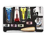 Schrägbandformer Set Schrägband Nähfuß Schneiderahle Pins Nähen Stoffklammern Herstellung von Schrägband 25mm 18mm 12mm 6mm 4er Tape Maker Set