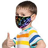 riou Kinder Junge Mundschutz Waschbar Baumwolle mit Ventil Atmungsaktive Staubdicht Multifunktional Halstuch