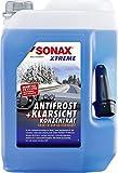 SONAX XTREME AntiFrost+KlarSicht Konzentrat (5 Liter) ergibt bis zu 15 Liter Winter-Scheibenwaschwasser, sofort mischbereit, schlierenfrei, Antikalk-Effekt | Art-Nr. 02325050