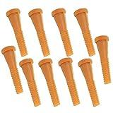 Gummi Rupfen Finger Entfernung Rupfmaschine für Geflügel GeflüGel Enthaarung Stangen für Rupfmaschine Hühnerrupfmaschinen Geflügelrupfmaschine Nassrupfmaschinen, 9 cm, 10 Stücke, Gelb