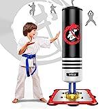 Dripex Boxsack Kinder Freistehender 130cm Standboxsack Boxpartner Boxing Trainer Punching Bag(Schwarz)
