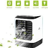 Tragbare Klimaanlage Air Cooler Luftbefeuchter,4in1 Mobile Klimaanlage mit Griff Büro Desktop-Luftkühler Mini-Ventilator für Zuhause, drinnen, Küche, im Freien