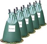 Baumbad | 5 Baumbeutel Bewässerungsbeutel für Bäume | langzeit Bewässerungssystem | robuster 75 Liter Wassersack / Bewässerungssack, aus UV beständigem PVC , Planzunterstützung für heiße Sommer