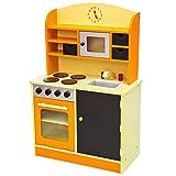 TecTake Kinderküche Spielküche aus Holz - Diverse Modelle - (Orange)