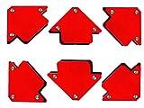 Proteco-Werkzeug® Set 6 St. Schweißmagnet Schweissmagnet Montagewinkel Schweißwinkel Magnetwinkel 22 kg 90 x 90 mm