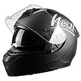 Westt Storm X Integralhelm Motorradhelm Doppelvisier in Schwarzmatte Roller Motorrad ECE