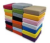 KMP SPANNBETTLAKEN Frottee Spannbetttuch Bettlaken mit Gummizug viele Farben und Größen (Terracotta, 200 x 220 cm)