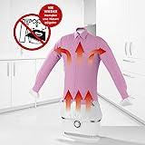 CLEANmaxx automatischer Hemdenbügler | Bügler für Hemden & Blusen, Bügelautomat | Bügelpuppe mit zwei Bügelprogrammen [1800 Watt/weiß]