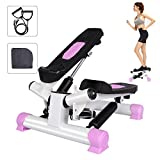 Bilisder Mini Stepper Hometrainer Stepper für Anfänger & Fortgeschrittene Up-Down-Stepper mit Multifunktions LCD Display