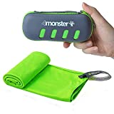 4Monster Mikrofaser Handtücher in 5 Farben, Saugfähiges Sporthandtuch Ultra Leicht, Schnelltrocknendes Reisehandtuch für Fitness Sport Sauna Yoga Reisen