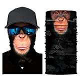 3 Stück Schlauchschal Gesichtsmaske Multifunktionstuch Motorradmaske 3D Tiere Halstuch Kopftuch Sturmmaske Bandana Schlauchtuch Schutztuch für Motorrad Fahrrad Ski Radfahren Kostüm Face Shield