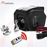 ROTFUCHS® Elektrische Seilwinde 12V 2721 KG mit Funkfernbedienung