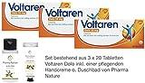 Voltaren Dolo 25 mg - 3er Sparset - bestehend aus 3x20 Tabletten inkl. einer hochwertigen Handcreme o. Duschbad von Pharma Nature (Apotheken-Express)