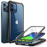 i-Blason iPhone 12 / iPhone 12 Pro Hülle (6.1') Bumper Case 360 Grad Handyhülle Transparent Schutzhülle Cover [Ares] mit Displayschutz 2020, Schwarz