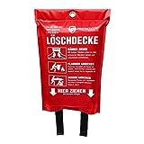 Hochwertige Löschdecke - ORIGINAL Protecticure Brandschutzdecke nach DIN EN 1869-1,2 Meter x 1,2 Meter - Für Brände in der Küche/Löschdecke für Zuhause - Küchenbrände - Feuerlöschdecke