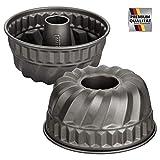 Kaiser-La Forme Backform Gugelhupf, Bundform ø22cm, Antihaftbeschichtet, Ofenfest bis 230°C, Made in Germany (Bundform ø22cm)