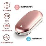 SGFDH Handwärmer, 2 IN 1 Funktion, 5200mAh USB wiederaufladbarer tragbarer Taschen-Handwärmer/Energiebank, Beste Wintergeschenke für Frauen, Männer, Wärmetherapie Große