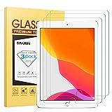 [3 Stück] SPARIN Panzerglas Schutzfolie kompatibel mit iPad 10.2 2019, Displayschutzfolie für iPad 7. Generation 10,2 Zoll 2019 mit [Blasenfrei] [9H Härte] [Kristallklare] [Ultra-klar]