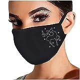 Inawayls Glänzend Strass Mund Nasenschutz, Damen Waschbar Mundschutz mit Motiv Baumwolle Glitzer Wiederverwendbar Atmungsaktiv Mund und Nasenschutz Stoff