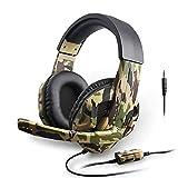 KEMANDUO Tarnung Gaming Headset, Spiele und tragbare Mobile Computer-Mikrofon Geeignet für Computer-Xbox One Gamer Headset