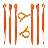 LUTER 6+2 STK. Orangenschäler Kunststoff Niedliche und Praktische Früchte Schäler Mit Küchenhelfer für Orange Avacados