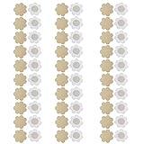 NEPAK 30 Paar Nippelabdeckung Brustaufkleber Brustwarzenabdeckung Selbstklebend Unsichtbare Einweg Brust Aufkleber(Flower)